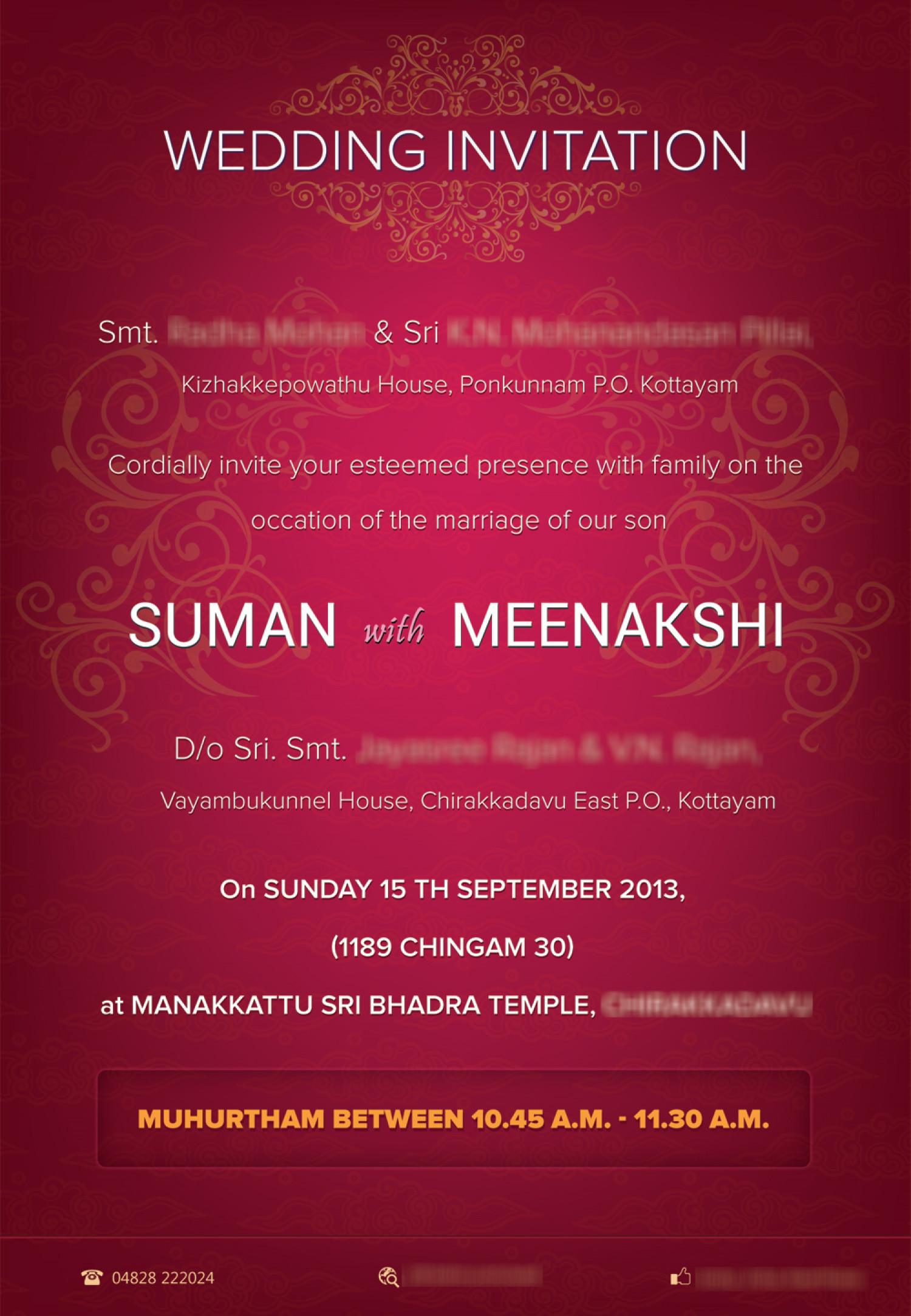 Marriage invitation card Visually