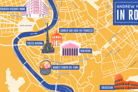 Marriott Hotels: Rome map Infographic