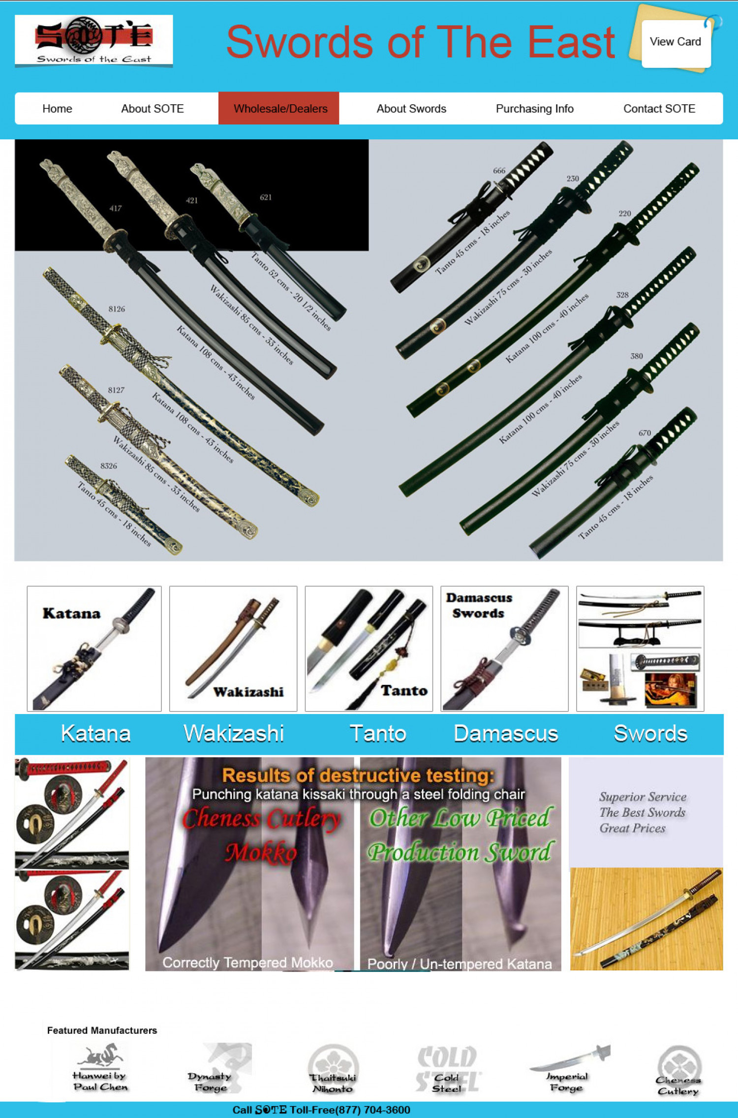 Martial Arts Swords Infographic