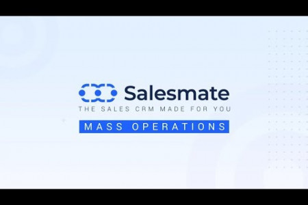 Mass Operations - Salesmate CRM Infographic