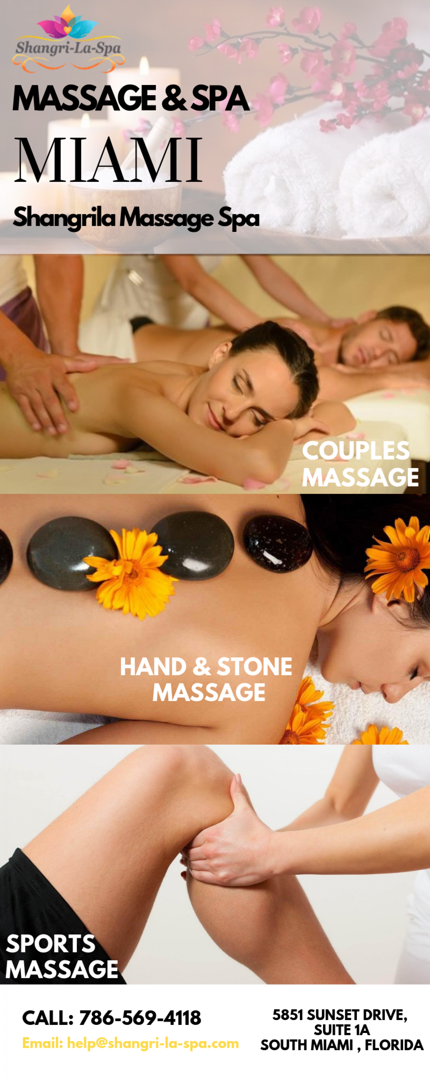 Massage Spa in South Miami at Shangrila Massage Spa Infographic