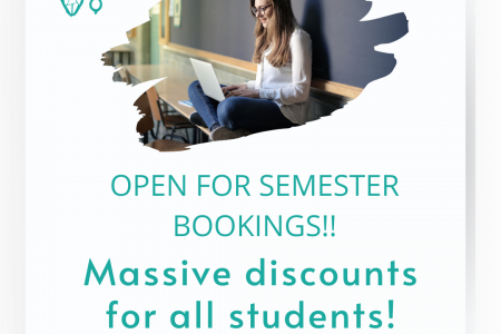 Massive Discounts on Semester Booking Infographic