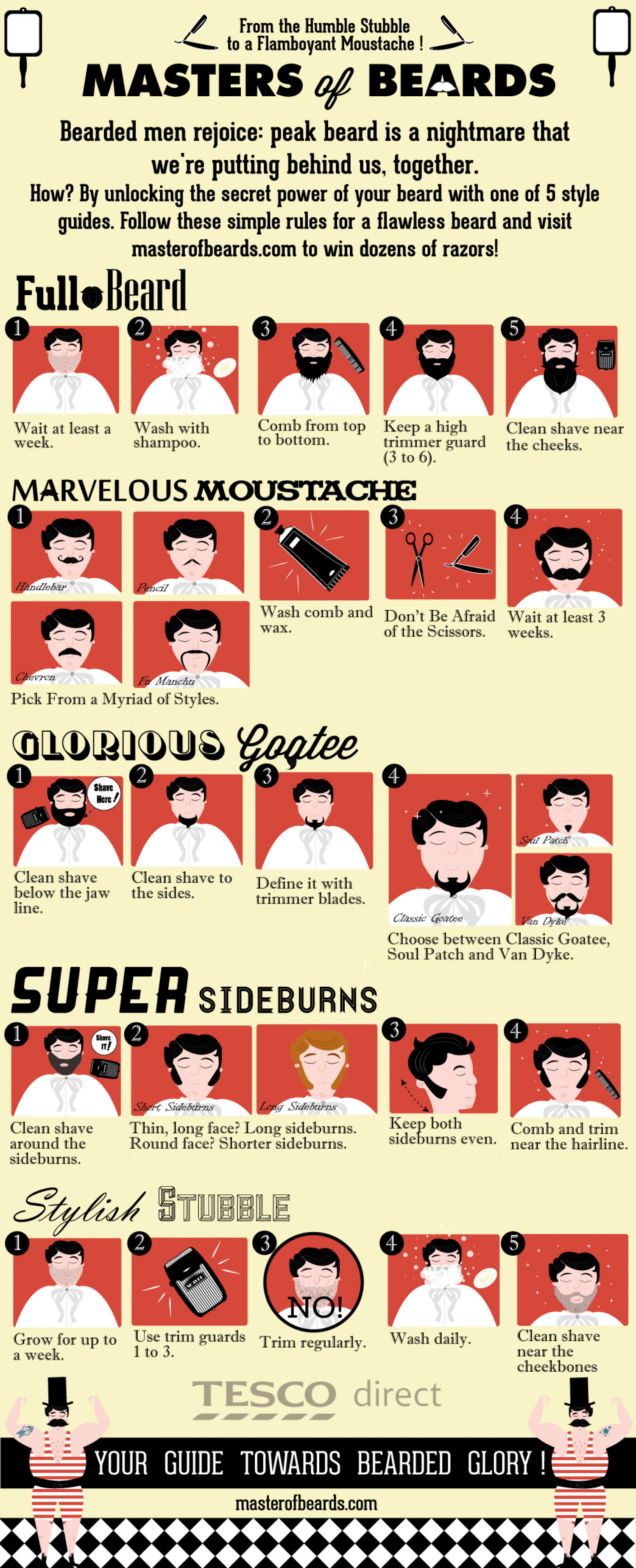 Master of Beards Infographic