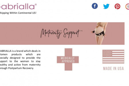 Maternity Support crafted with Natural Fibers Infographic