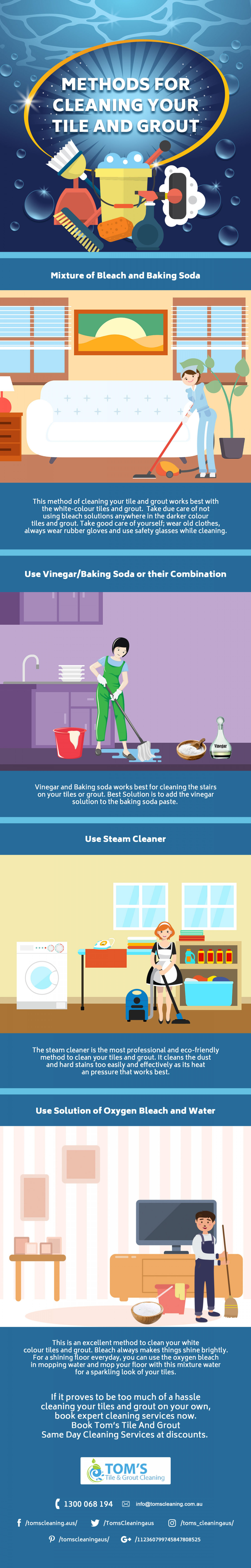 Methods For Cleaning Your Tile And Grout Infographic