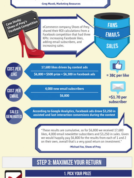 Maximizing the ROI of Facebook Promotions Infographic