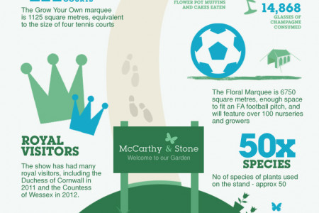 McCarthy & Stone at RHS Hampton Court Palace Flower Show Infographic