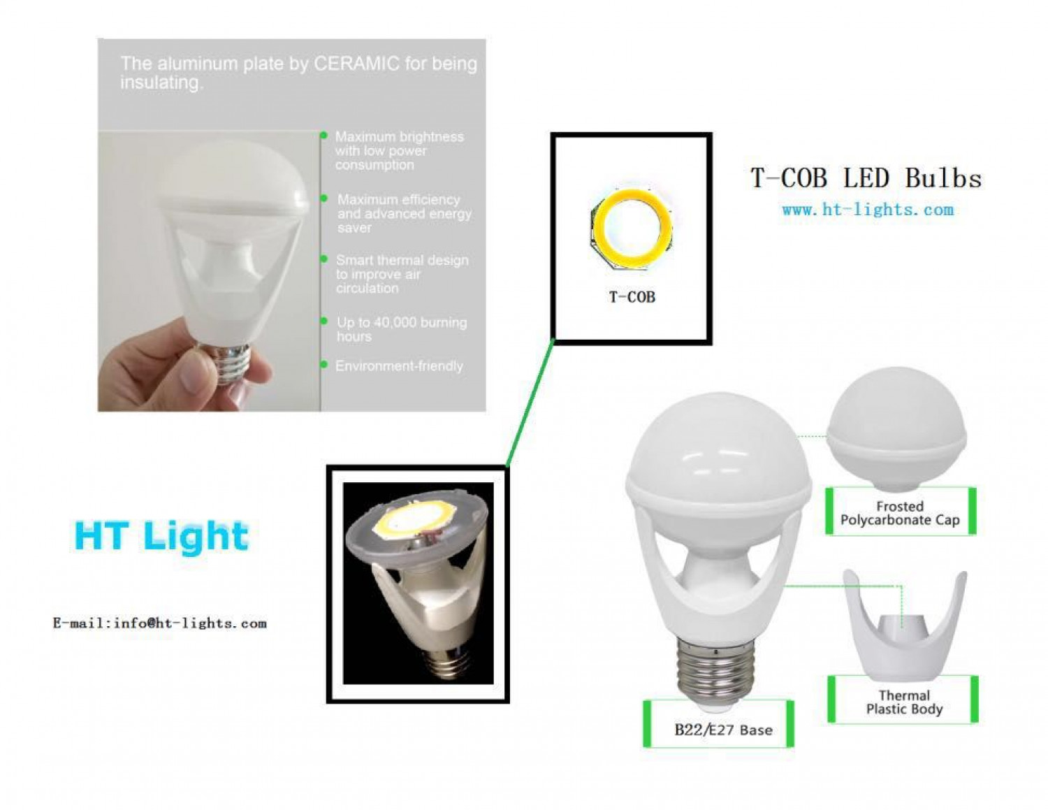 MCOB technology for LED light sources Infographic