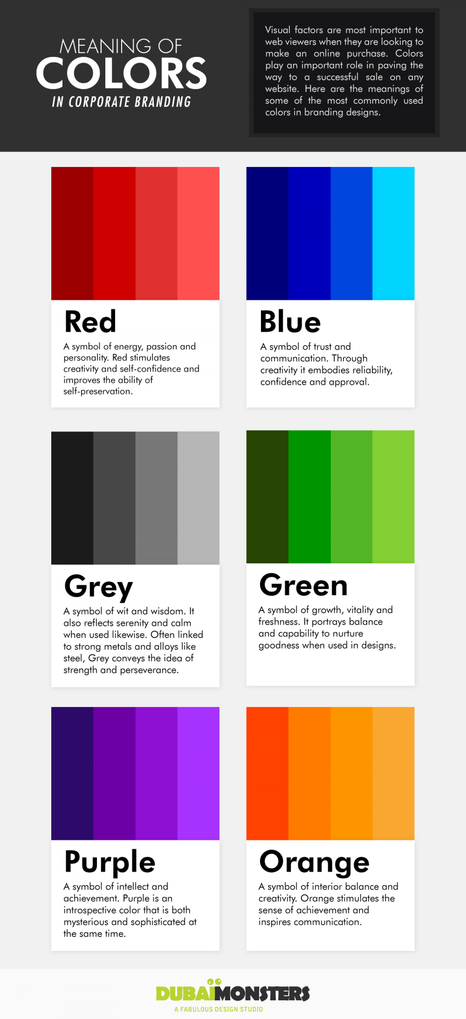 Meaning of Colors in Corporate Branding Infographic