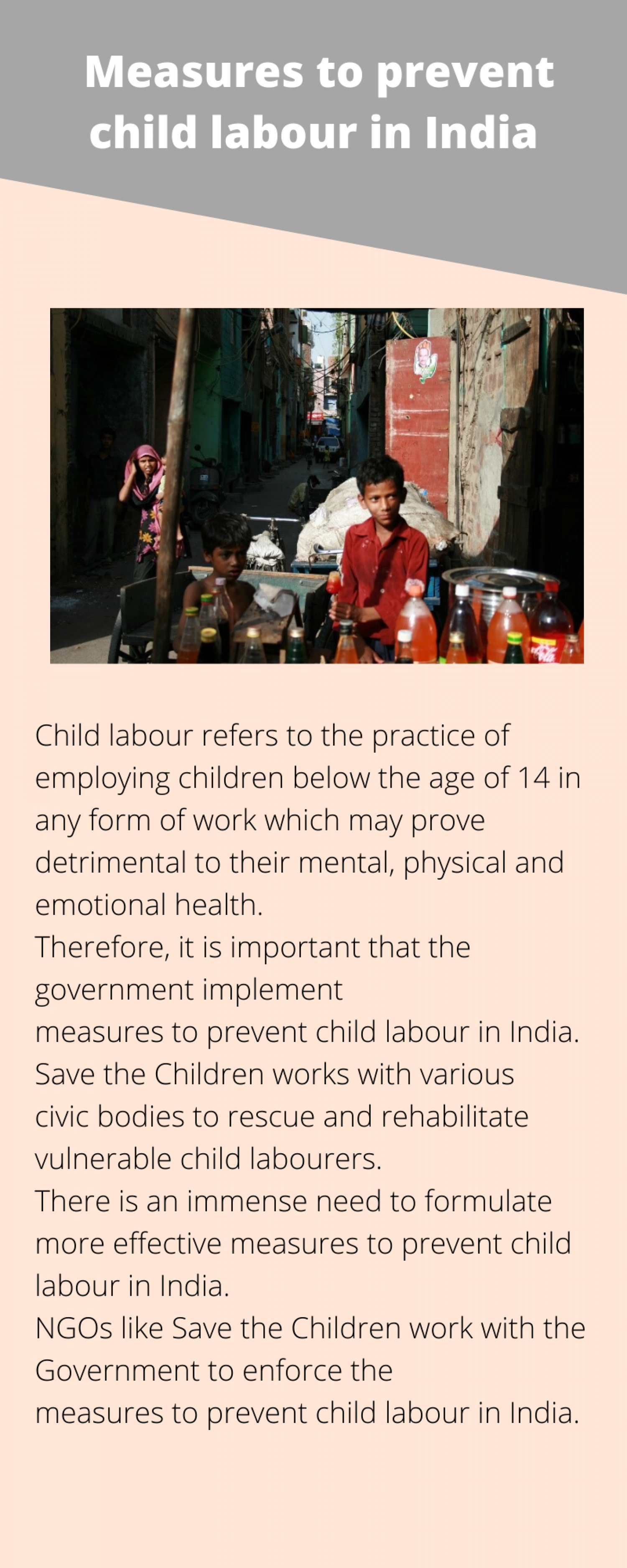 Measures to prevent child labour in India Infographic