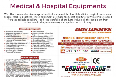 Medical and Hospital Equipments India Infographic