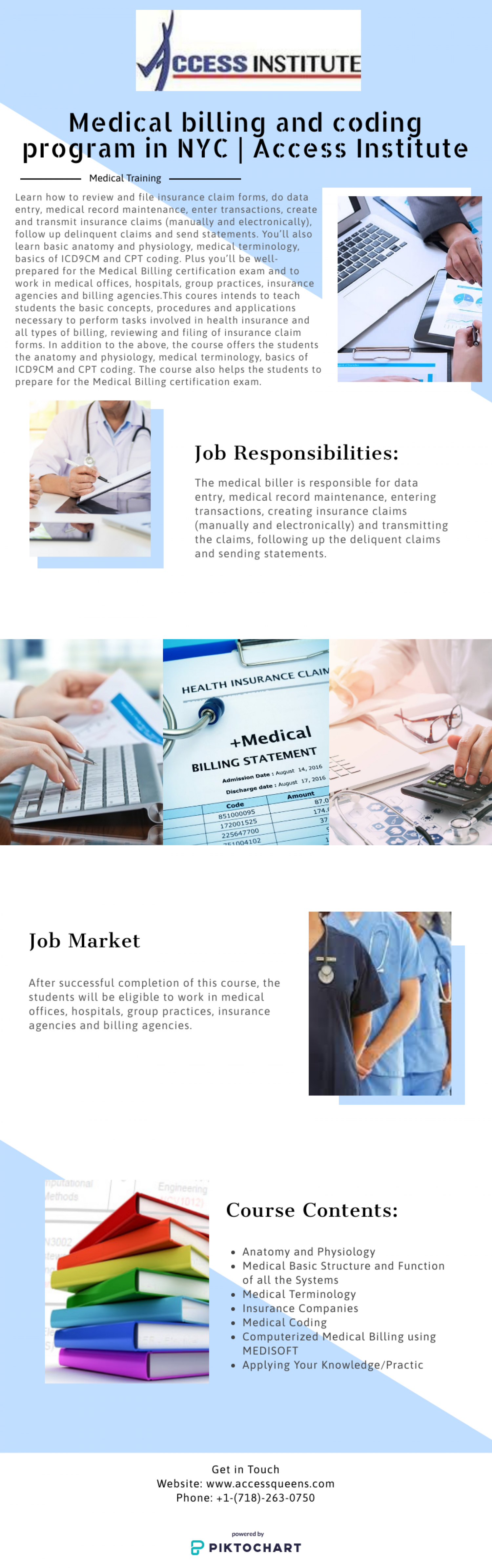 Medical billing and coding program in NYC | Access Institute Infographic