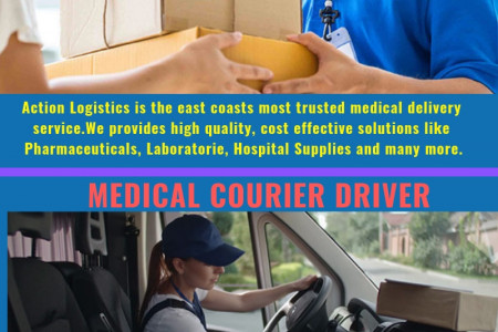 Medical Courier - Action Logistics Medical Courier Service Infographic