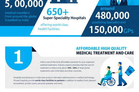 Medical Tourism in India Infographic Infographic