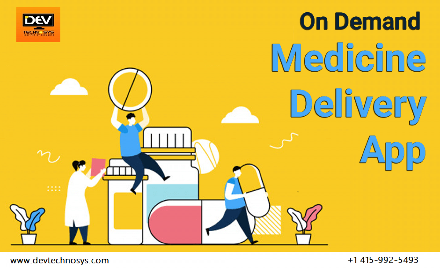 Medicine Delivery App Development Infographic