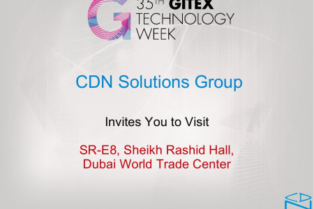 Meet CDN Solutions Group in Gitex Technology Week 2015 Dubai Infographic