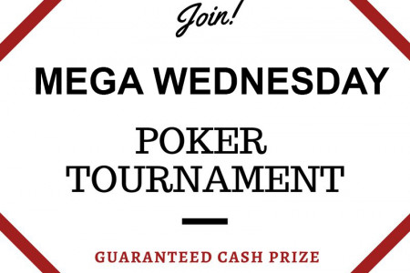 MEGA WEDNESDAY POKER TOURNAMENT - BUNGA365 Infographic