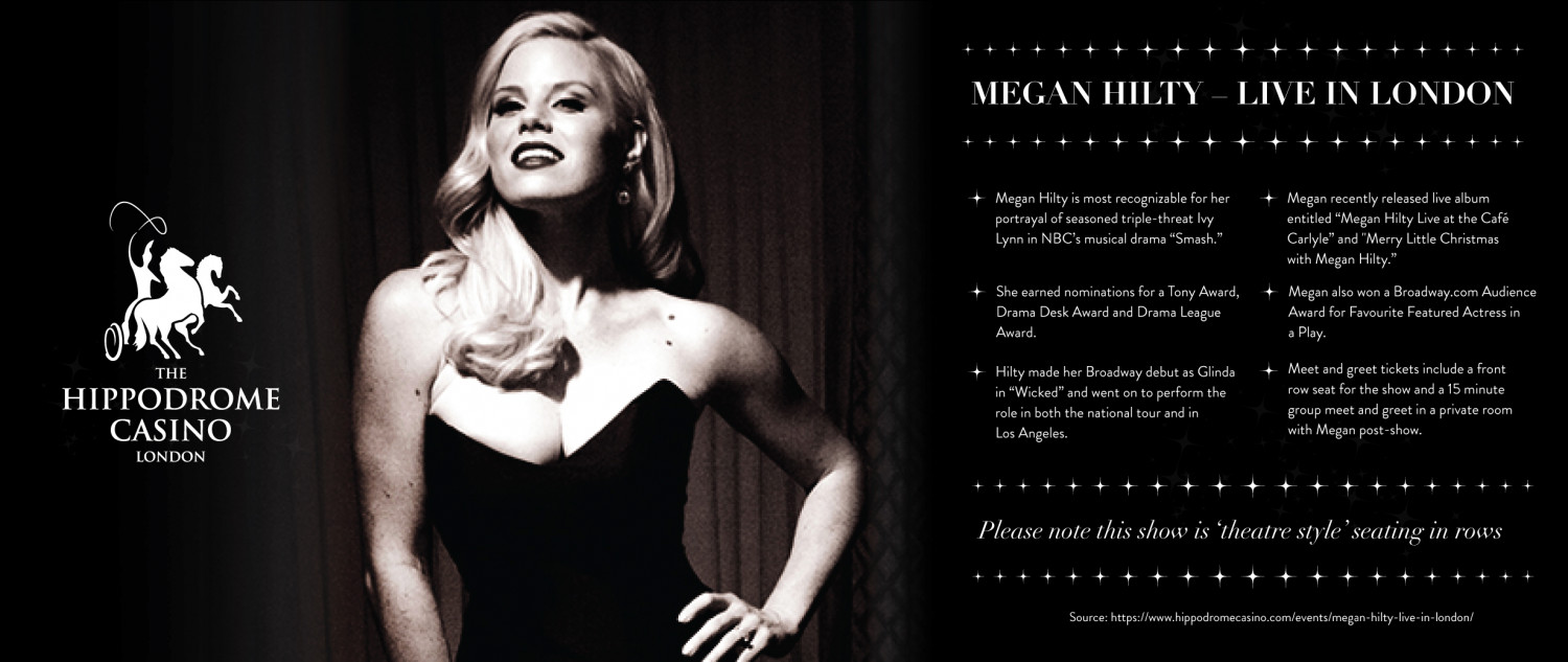 Megan hilty live in london visual megan hilty live in london infographic m4hsunfo