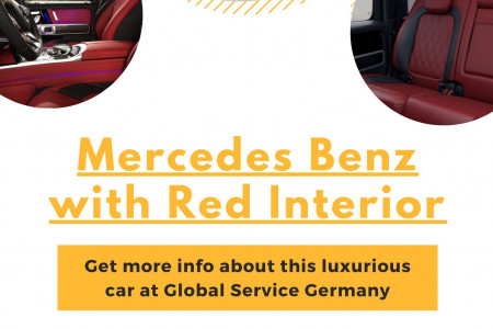 Mercedes Benz with Red Interior Infographic