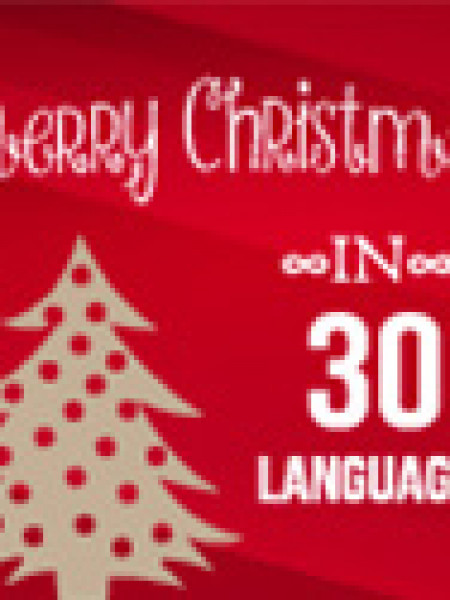 Merry Christmas in 30 Languages Infographic