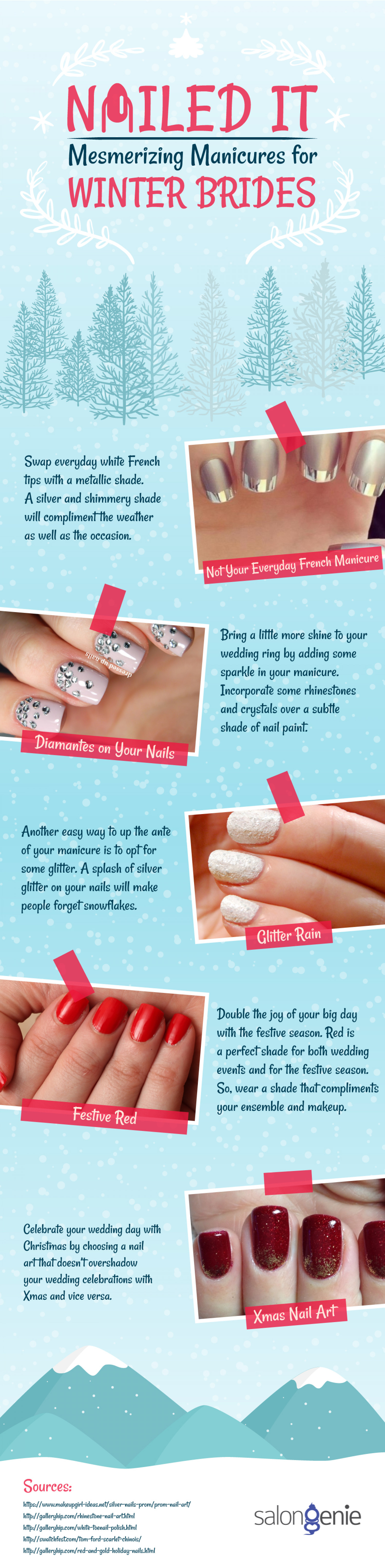 Mesmerizing Manicures For Winter Brides – Nailed It! | Visual.ly