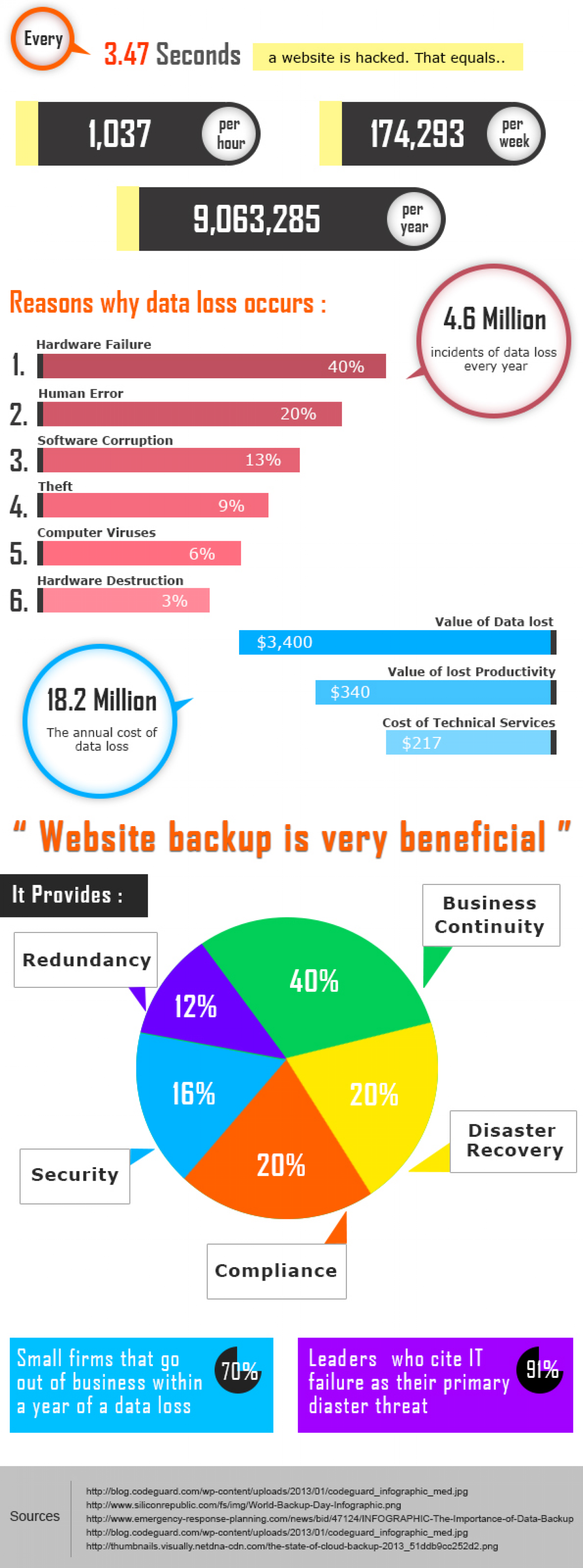 Methods To Provide Back Up For Your Website Infographic