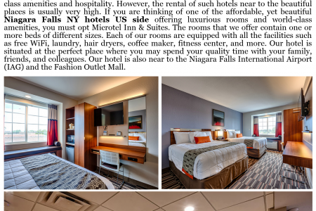 Microtel Inn & Suites – Offering Rooms for Your Niagara Falls Tour Infographic
