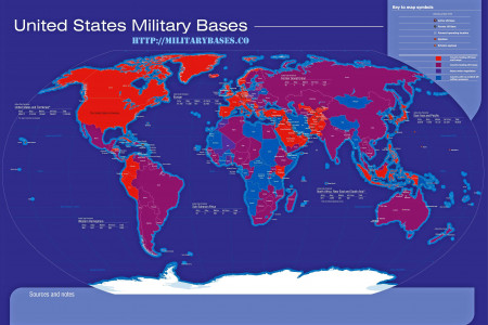 Military Bases and their Locations Infographic
