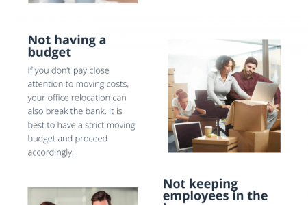 Mistakes to avoid while moving your business Infographic