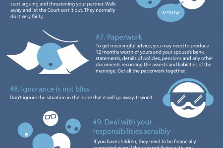 Mistakes you can make during a divorce (part 2) Infographic