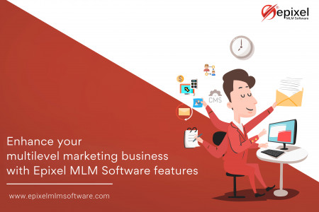 MLM Software Features and Tools Infographic