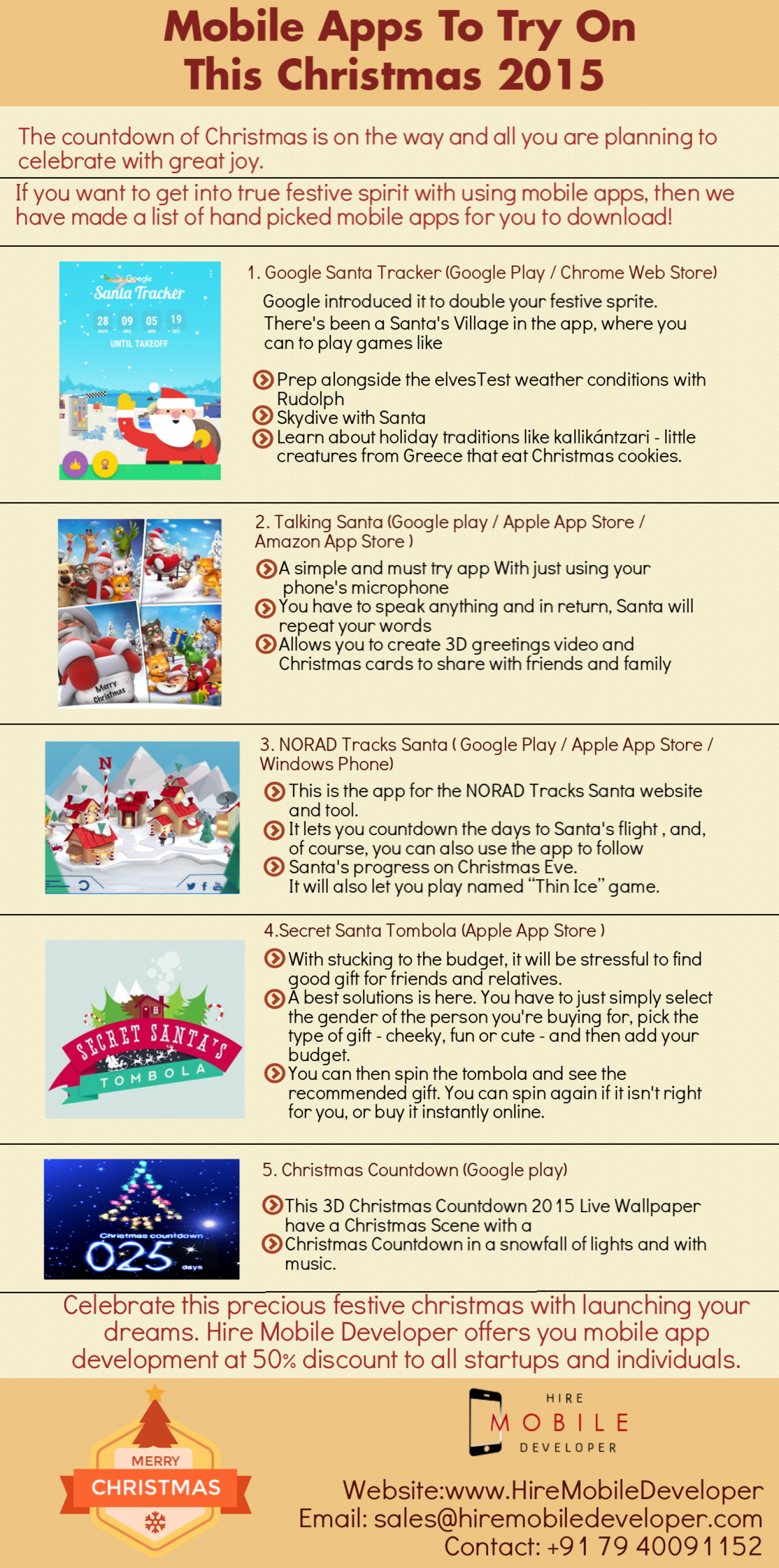Mobile Apps to try on this Christmas Infographic