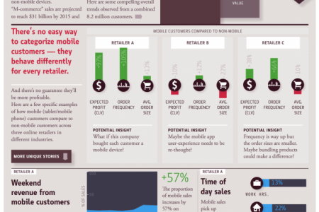 Mobile Ecommerce Customers Infographic