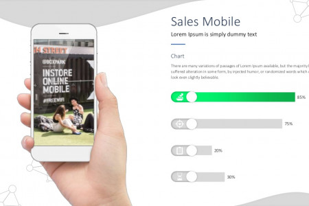 Mobile Sales Slides | Free Download Infographic