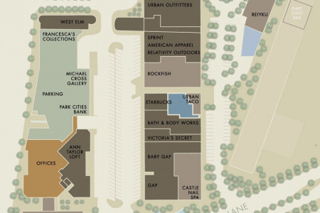 Mockingbird Station retail site map Infographic