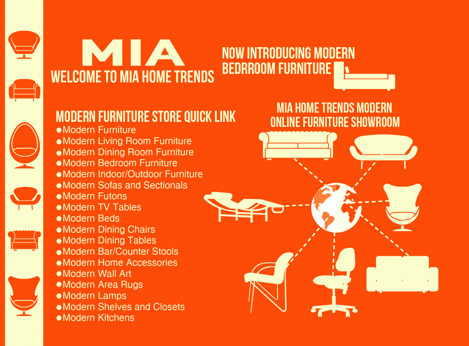 Modern Furniture Boca Raton | Mia Home Trends (954) 289 5680 Infographic