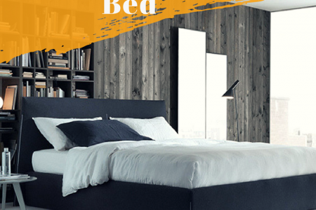 Modern storage bed Infographic