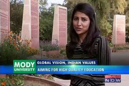 Mody University of Science & Technology Covered by Times Now Infographic