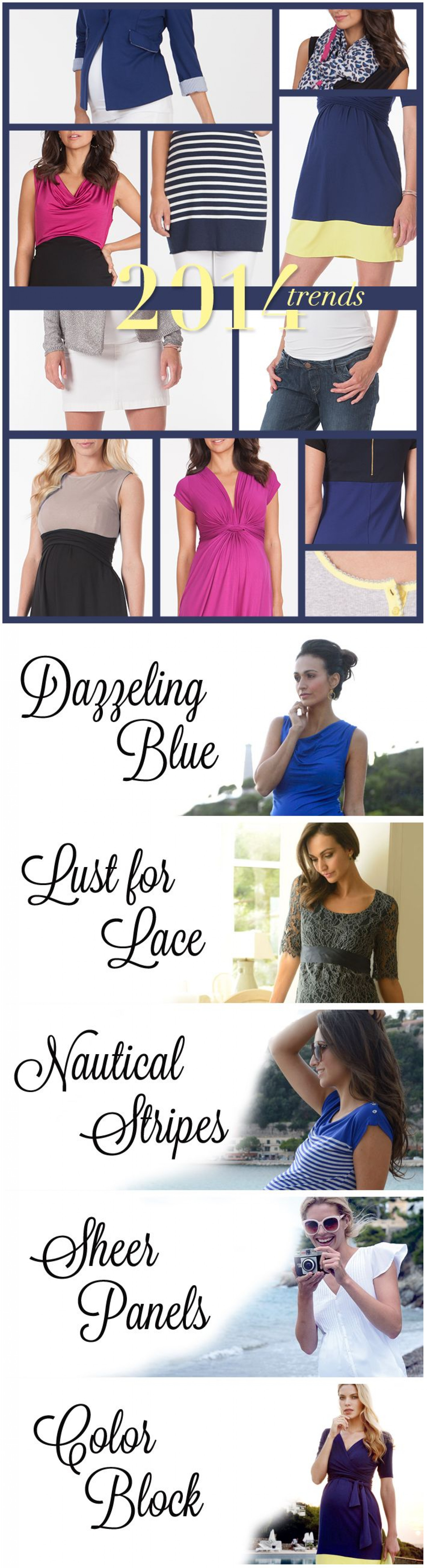 Mommylicious Maternity - Top 5 Maternity Fashion Trends in 2014 Infographic