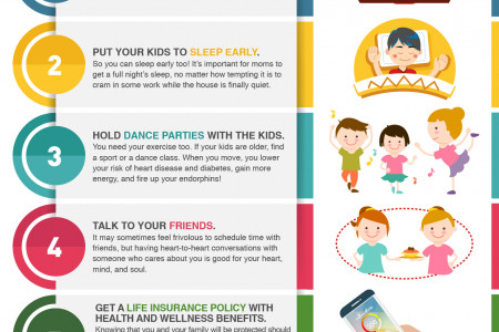 Mom's Guide to A Healthier and Longer Life Infographic