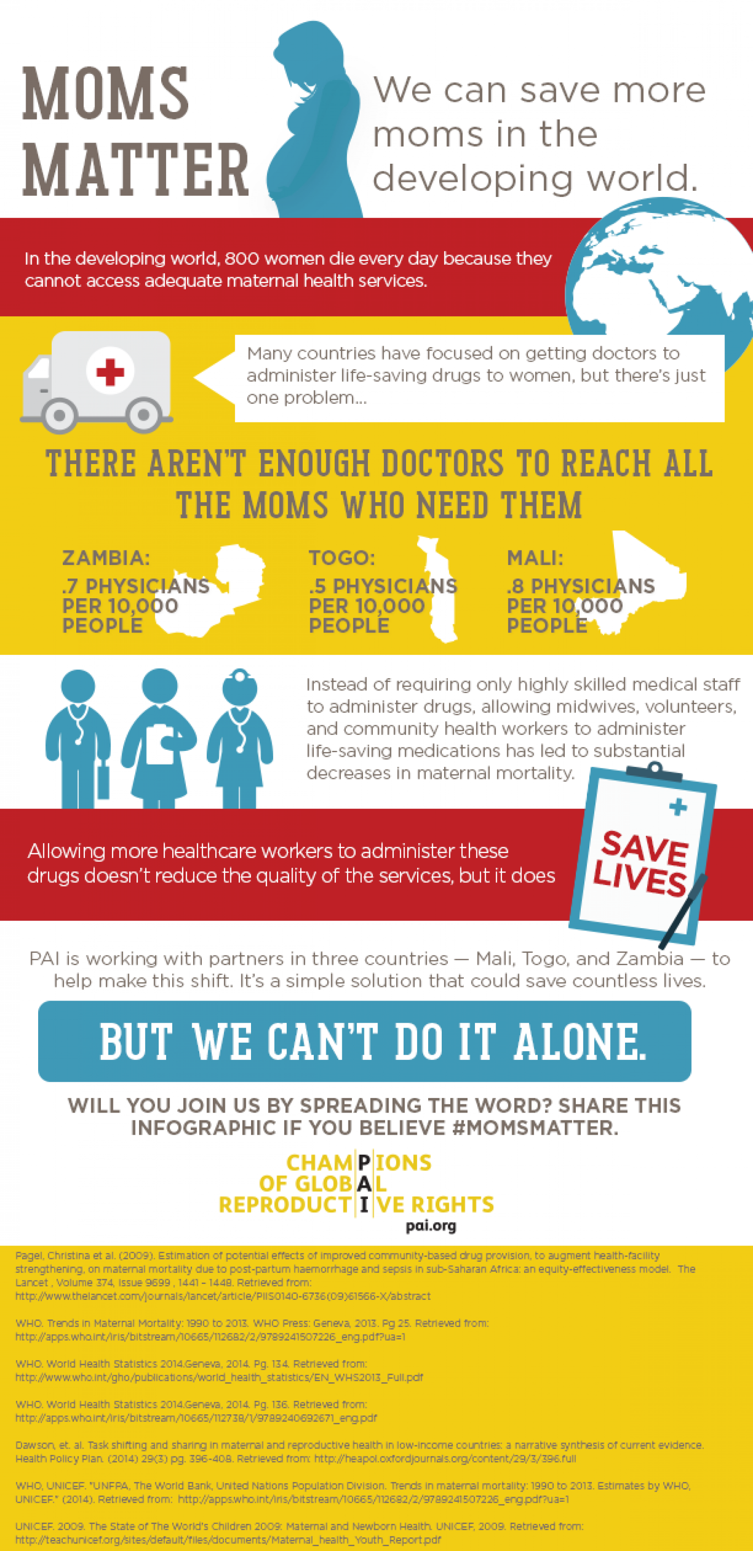 Moms Matter: We Can Save More Moms in the Developing World Infographic