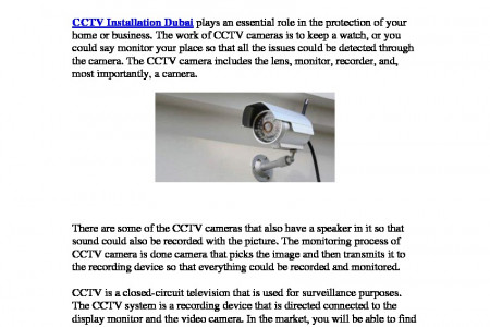 Monitor Each Activity With CCTV Installations Infographic