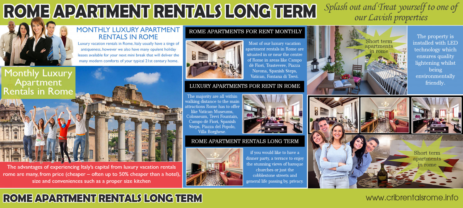 Monthly Luxury Apartment Rentals In Rome Infographic