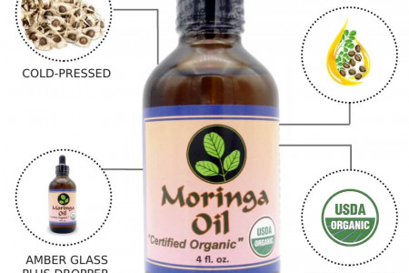 Moringa Oil Benefits for Skin and Hair Infographic