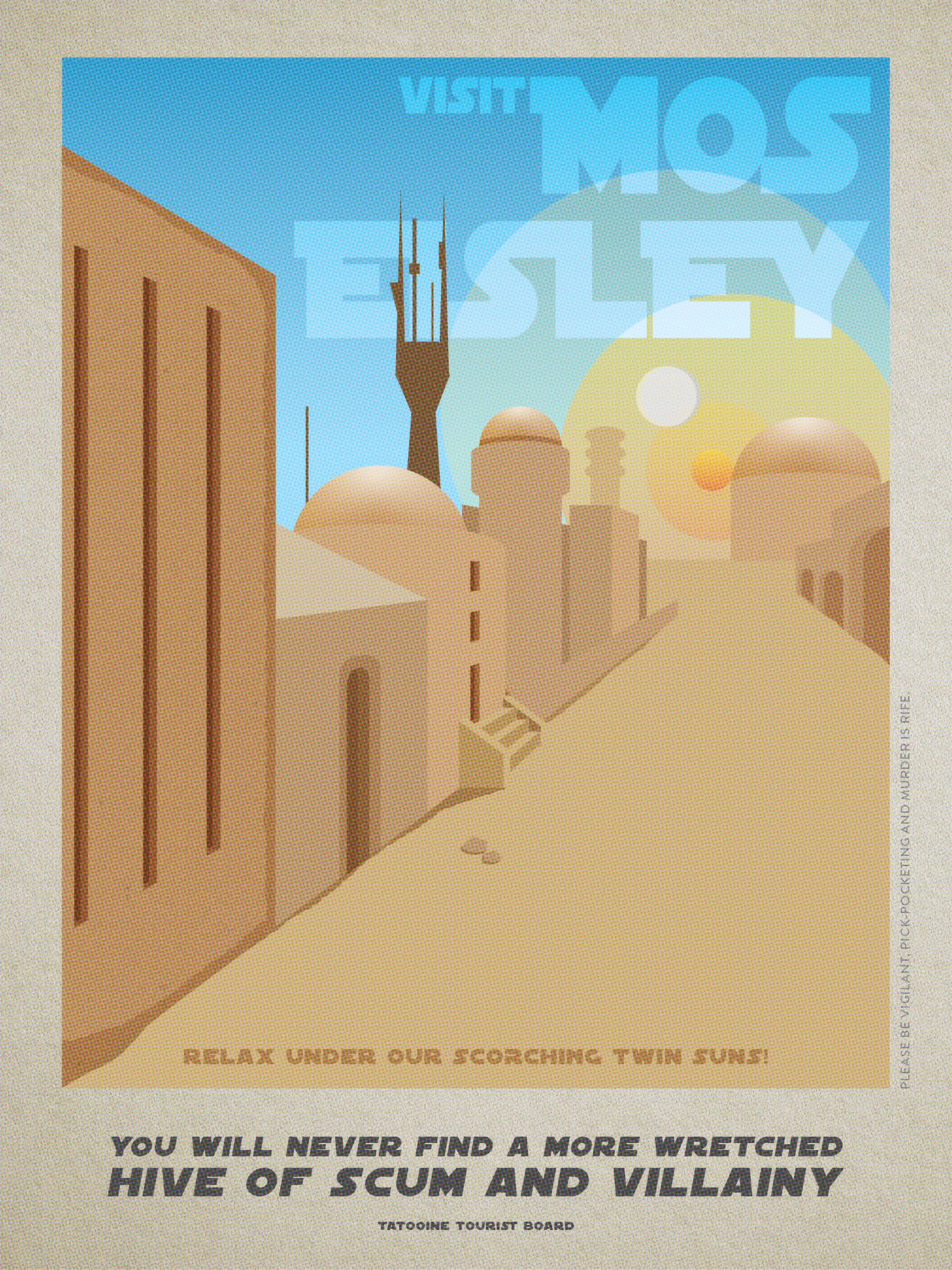 Mos Eisley Travel Poster  Infographic