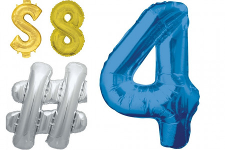 Most Amazing Number Balloons by Balloons Online Infographic
