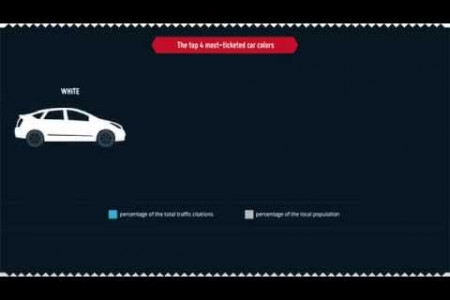 Most and Least Ticketed Cars Infographic