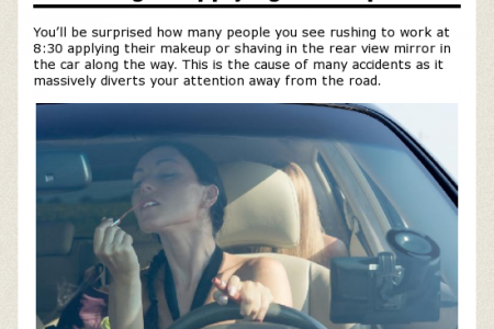 Most Common Driving Distractions Infographic