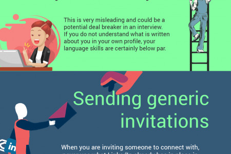 Most Common Mistakes on LinkedIn Infographic