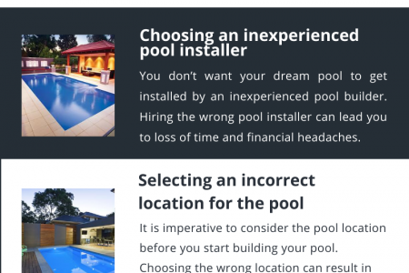 Most common mistakes people make while installing pools Infographic